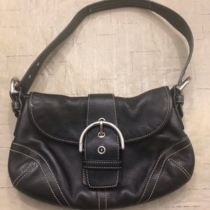 Leather Coach handbag-Black